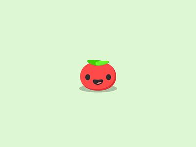 Happy Tomato stickermule vector sketch illustration food cute tomato