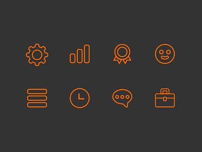 Hacked Icons hackernews app orange vector sketch illustration icon set icons icon