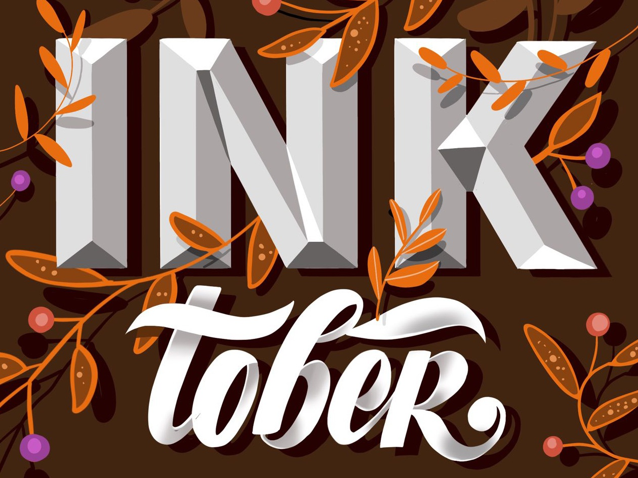 Inktober 3d letters lettering typography