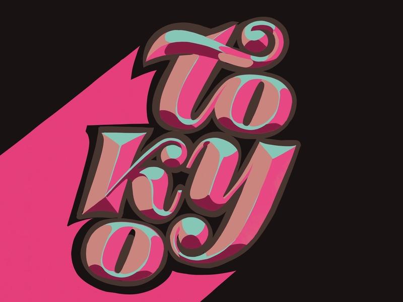 Tokyo ipad vector logo lettering illustration hand lettering design typography 3d letters