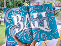 Bali, hand lettering