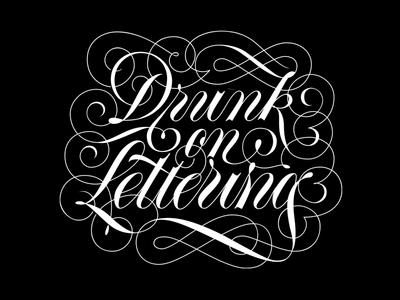 Spenserian lettering