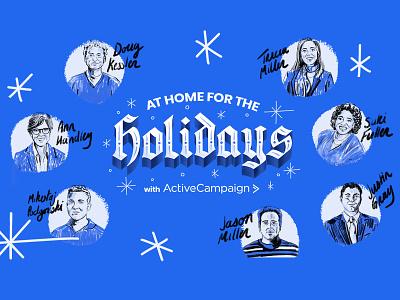 Holiday Campaign typography branding logo illustration design