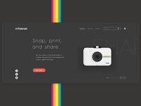 Polaroid — web design concept