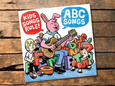 Kids Songs Rule  - Abc Songs comic art album art illustration cartooning