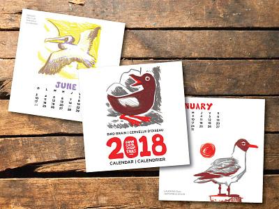 2018 Bird Brain Calendar