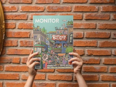 Monitor Cover monitor right to the city magazine cover illustration