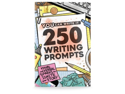 Book Cover - 250 Writing Prompts hejstylus photoshop illustrator book cover illustration