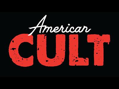 Book Title Design - American Cult design logo typography