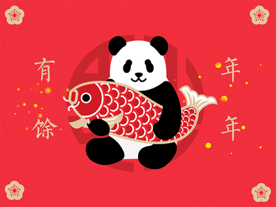 Panda&Happy Chinese New Year