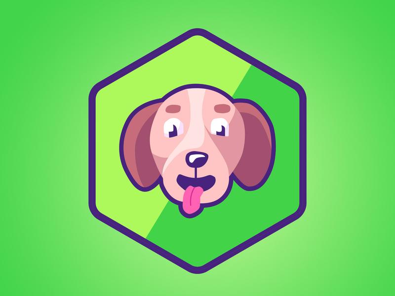 dog logo draw vector illustration