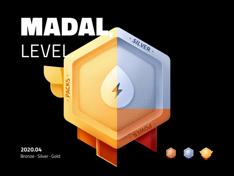 Medal Icons level packs power gold silver bronze medals icons icon