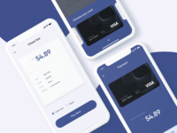 Daily UI #002 Credit Card Checkout Screens