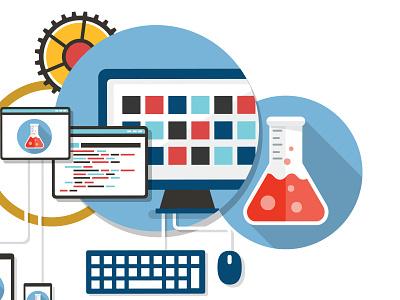 Practice Labs Icon icon design flat labs