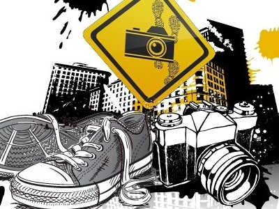 T-Shirt Design art graffiti photography converse camera illustration grunge urban design drawing