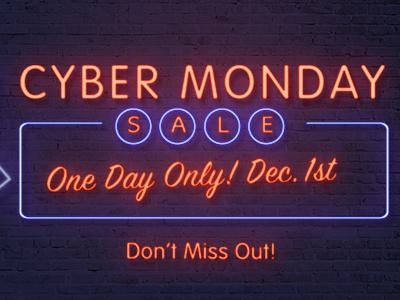 Cyber Monday Teaser design teaser cybermonday advertising promo sale neon