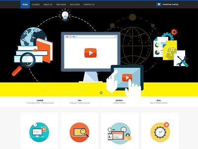Flat UI e-Commerce Site flat ui ux design web design icons header
