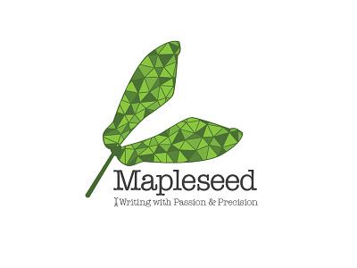 Mapleseed mapleseed logo copywriter design nature brand branding