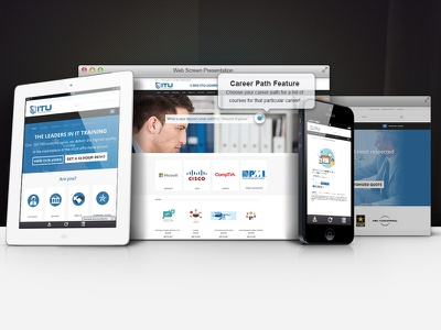 ITU redesign online training website web web design