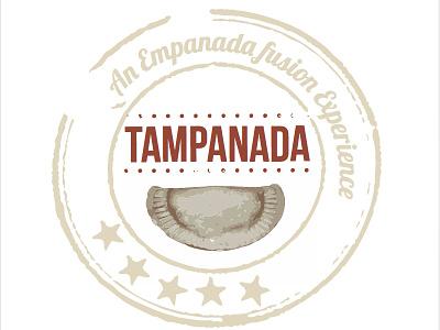Tampanada Logo Design design logo stamp food truck logo empanada art vector logo design
