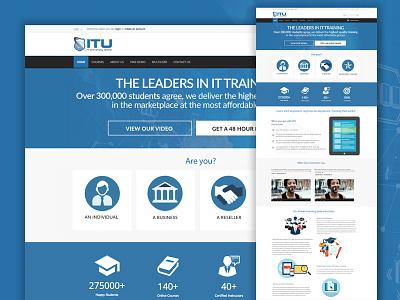 ITU site redesign learn online training training web design web open cart design ux ui