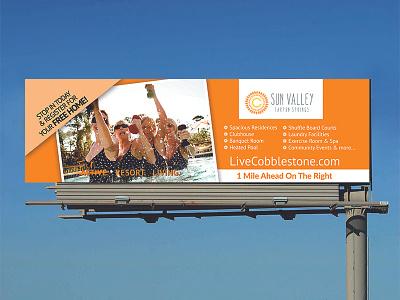 Outdoor Advertising Cobblestone community design billboard