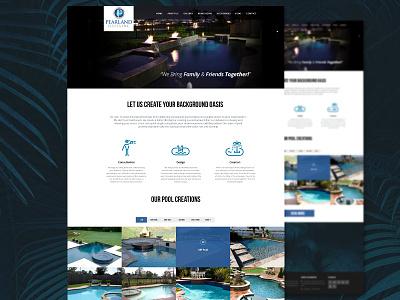 Pearland Pools Website tropical dark ux ui design pools web