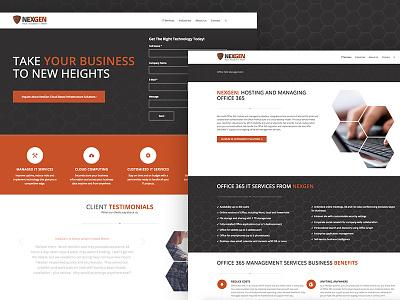 NEXGEN Website it company msp ux ui orange honeycomb responsive website web