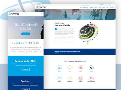 WTG Telecom Website var ux ui blue telecom responsive website web