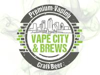 Logo Design for Vape City & Brews