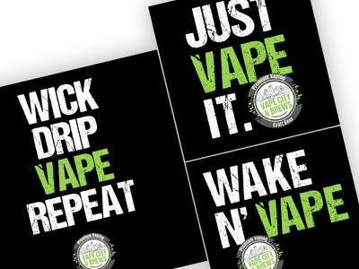 Vape Posters green vapor vape poster print design