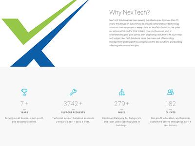 NexTech Solutions Web Site creative direction ux ui design web blue msp