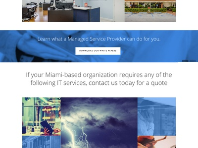 Trust Technology it company msp ux ui miami blue responsive website web