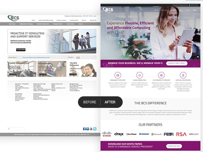 Before & After BCS Redesign before and after design web design web redesign