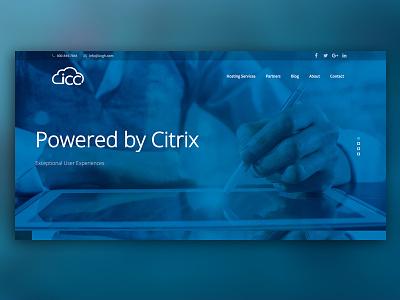 ICC Global Hosting it company ux ui blue responsive website web