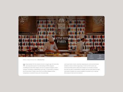 Raffles - Website booking luxury hostel eshop e-commerce responsive web design ux brand experience
