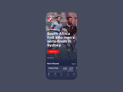 World Rugby Seven - Services sports media ui design figma product design responsive web design principle app ux design brand experience prototyping