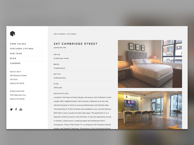 Apartment Listing apartments real estate typography gotham gotham rounded
