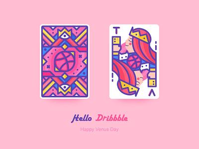 Hello Dribbble hello dribbble queen women day card tv