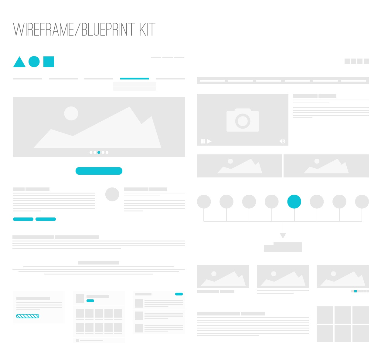 Wireframe blueprint kit