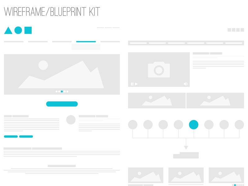 Wireframe / Blueprint Kit wireframe blueprint kit small thin mini slim quick composite