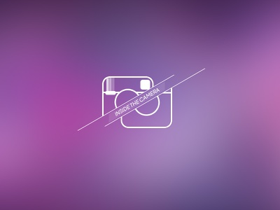 Inside The Camera vector icon instagram camera