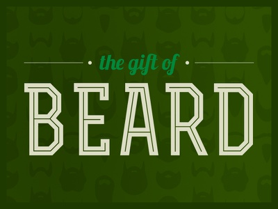 The Gift of Beard beard gift christmas mustache wrapping paper
