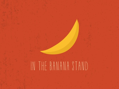 In The Banana Stand banana stand logo yellow orange