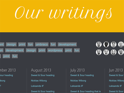 Our writings sort tags blog diary