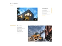 Construction Website - Service Section