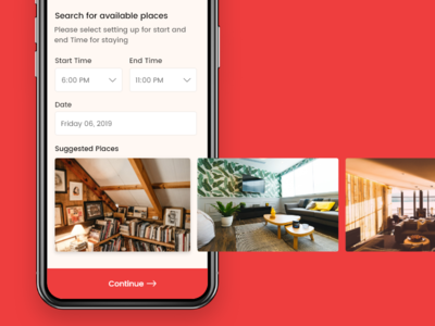 Hourly Rental Places App