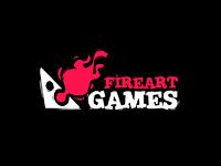 Fireart games logo black bg dribbble attch