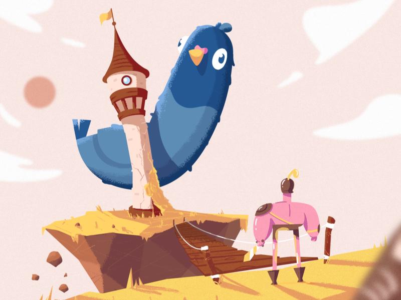 Pigeon illustration fireart studio fireart