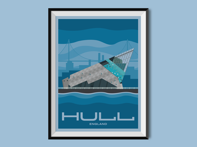 Kingston upon Hull building architecture sight united kingdom england aquarium hull travel poster poster design poster